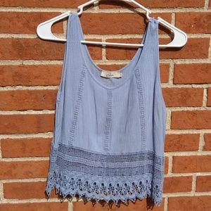 Elodie Crochet lace Crop Top sz M